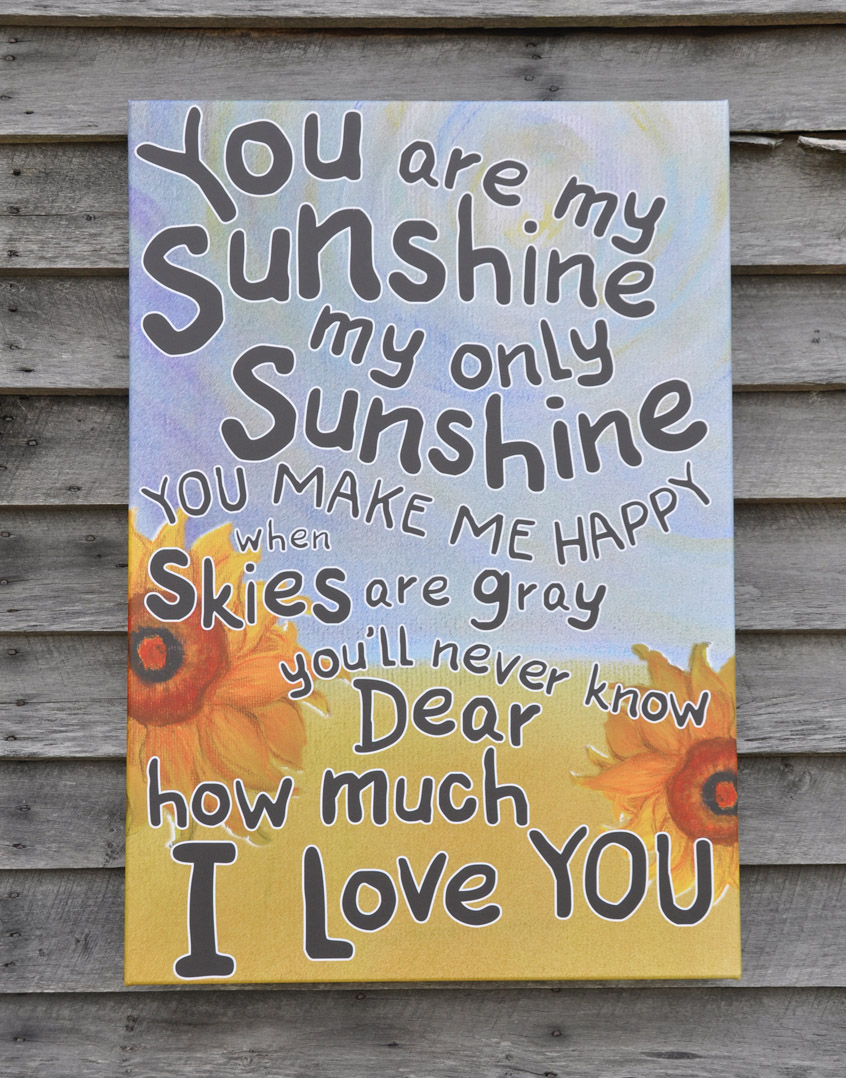 You are my sunshine the society for preservation of